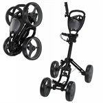 Caddymatic Golf Quad 4-Wheel Folding Golf Trolley