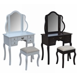 EX-DEMO Homegear Venetian Dressing Table Stool Set