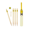 Woodworm Junior Cricket Set - Yellow Size 6