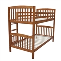 Homegear 3FT Single Wooden Bunk Bed Honey