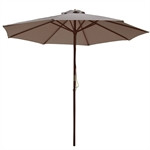 Palm Springs 2.7m Wooden Garden Parasol Umbrella