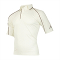 Woodworm Cricket Shirt MAROON TRIM