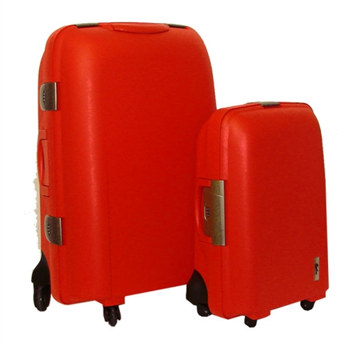 "Confidence 28"" Hard Shell Polypropylene Suitcase, Red - The Sports HQ"