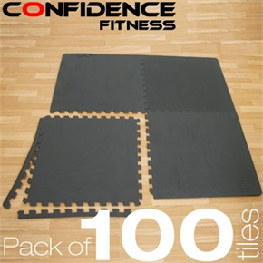 100x Confidence Interlocking Floor Tiles 400 sq ft