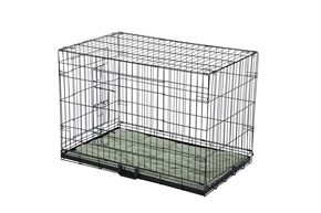 HQ Pet Dog Crate with Bed - Large