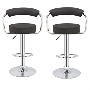 2 x Homegear M1 Kitchen Adjustable Bar Stools