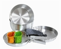 7pc Silver Cook Set by Camping.co.uk