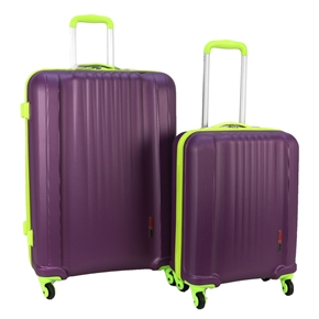 Swiss Case 4 Wheel EZ2C 2Pc Suitcase Set - Purple