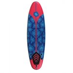 North Gear 6ft / 182cm  Foam Surfboard Blue/Red