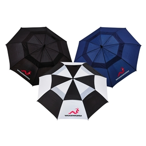 "3 x Woodworm Double Canopy 60"" Golf Umbrellas"
