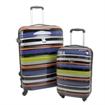 Swiss Case 4 Wheel 2Pc Hard Suitcases Technicolour
