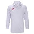 Woodworm Pro Cricket Long Sleeve Shirt White