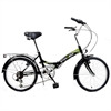Stowabike Folding City V2 Compact Bike Black/Green