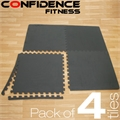4x Confidence Interlocking Floor Tiles 16 sq ft