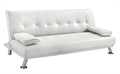 Homegear Faux Leather Deluxe Sofa Bed White