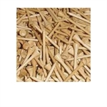 500 Wooden Golf Tees - 2 3/4