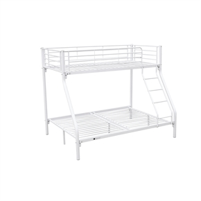 Homegear Triple Sleeper Metal Bunk Bed White