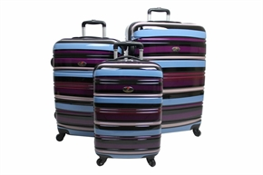 Swiss Case 4 Wheel 3 Pc ABS Suitcase set Colourful