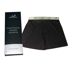 5 x Woodworm Boxer Shorts - Button Fly