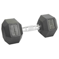 Confidence Fitness 12.5kg Rubber Hex Dumbbell
