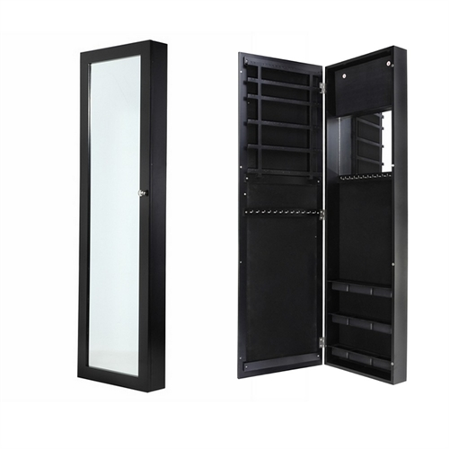 door and wall mounted mirrored jewellery cabinet the sports hq. Black Bedroom Furniture Sets. Home Design Ideas
