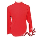 Woodworm Golf Long Sleeve Mock Shirt RED