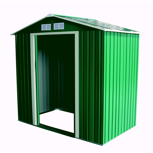 Palm Springs 6ft X 4ft Apex Metal Garden Shed The Sports Hq