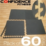 60x Confidence V2 Interlocking Floor Tiles 240sqft