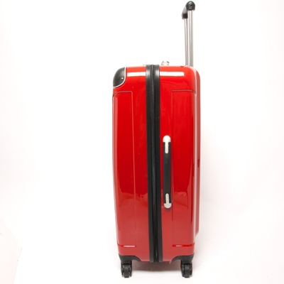 Swiss Case 4 Wheel 2Pc Hard Suitcase Set Red - The Sports HQ