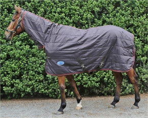 Barnsby 210D 200g Full Neck Horse Stable Rug Brown