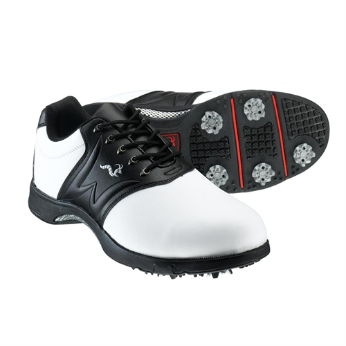 Woodworm Player   Golf Shoes White Red