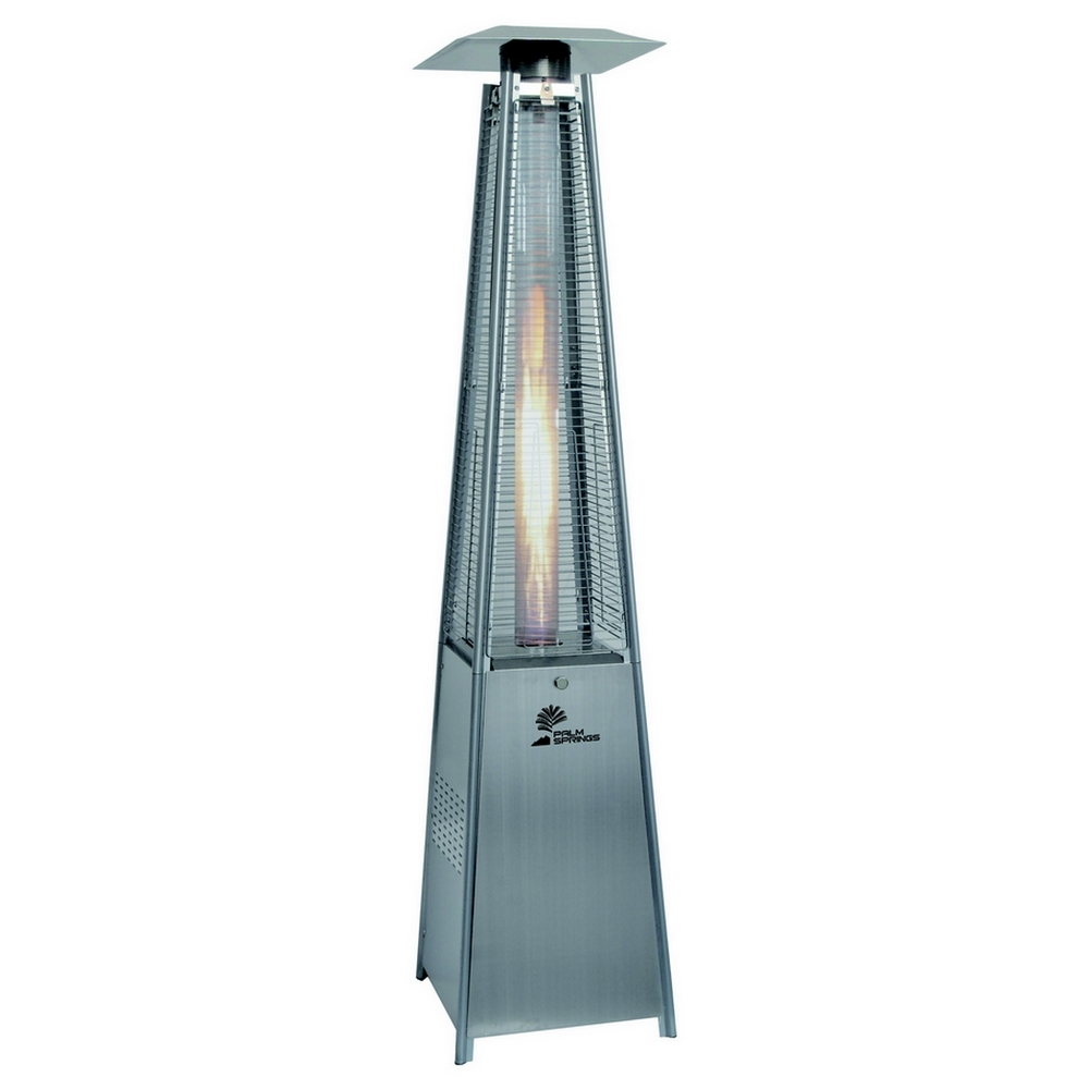 Palm Springs Palm Springs Outdoor Pyramid Quartz Glass Tube Dancing Flame  Patio Heater ...