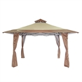 Palm Springs 4m x 4m Double Top Pop Up Gazebo- Tan