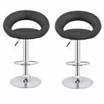 2 x Homegear M3 Sorrento Adjustable Bar Stools