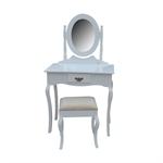 Homegear Milan Dressing Table, Mirror & Stool Set