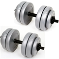 Palm Springs 30kg Vinyl Dumbbell Weight Set SILVER