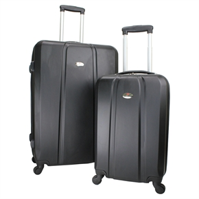 Swiss Case 4 Wheel ABS 2Pc Diamond Suitcase Set