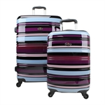 Swiss Case 4 Wheel 2Pc Hard Suitcase Set Colourful
