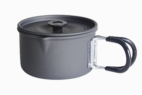 1L Hard Anodized Aluminium Pot by Camping.co.uk