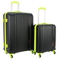 Swiss Case 4 Wheel EZ2C 2Pc Suitcase Set - Black