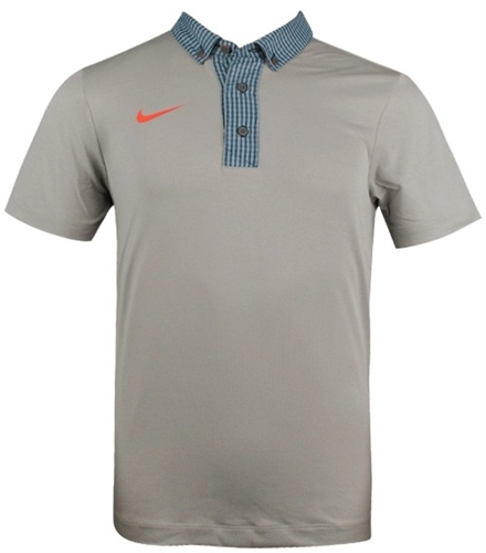Nike sport gingham novelty men 39 s golf polo shirt the for Button down collar golf shirt