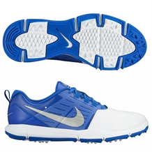 Nike Explorer Golf Shoes - White/Silver/Blue