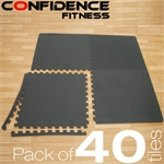 40x Confidence Interlocking Floor Tiles 160 sq ft