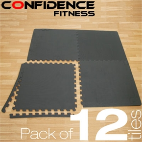 12x Confidence Interlocking Floor Tiles 48 sq ft