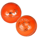 6 x Woodworm League 5 1/2oz Cricket Balls ORANGE