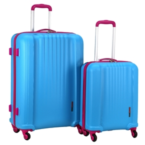 Swiss Case 4 Wheel EZ2C 2Pc Suitcase Set - Blue