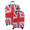 Swiss Case 4 Wheel 2Pc Suitcase Set UNION JACK