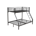 Homegear Triple Sleeper Metal Bunk Bed Black
