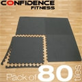 80x Confidence Interlocking Floor Tiles 320 sq ft