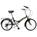 EX-DEMO Stowabike City V2 Compact Bike Black/Green